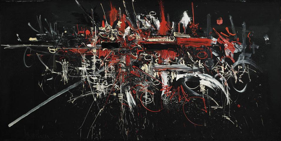 乔治 马修Georges Mathieu (法国1921- ) 作品集1 - 刘懿工作室 - 刘懿工作室 YI LIU STUDIO
