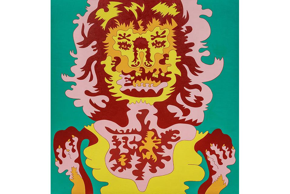 Karl Wirsum (American, b. 1939), Doggerel III, 1967. Acrylic on canvas, 38 x 36 inches. Estimate: $50,000 - $70,000.