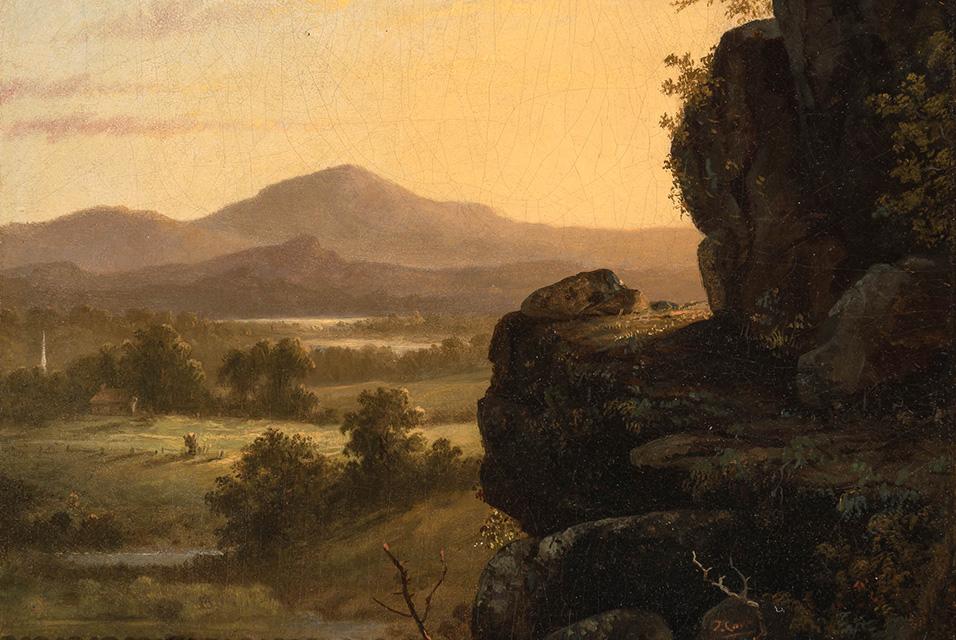 Thomas Cole (1801-1848), Scene in the Catskills, circa 1830-40s. Est. $30,000-50,000.