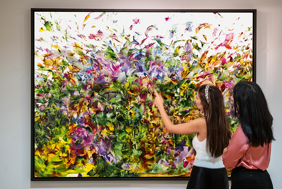 Ali Banisadr, Stardust, oil on linen, 2011 (est. £280,000-350,000). Courtesy Sotheby's.